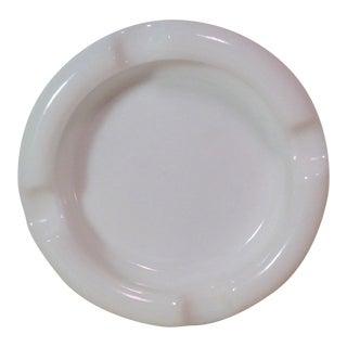 Mid-Century Modern Milk Glass Ashtray