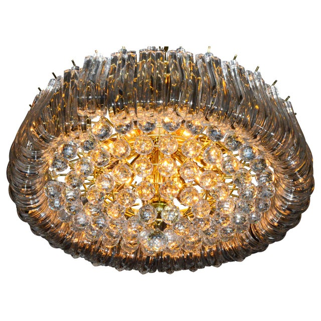 Triarch Lucite Chandelier - Image 2 of 6