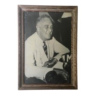 Vintage Framed Franklin D. Roosevelt Portrait