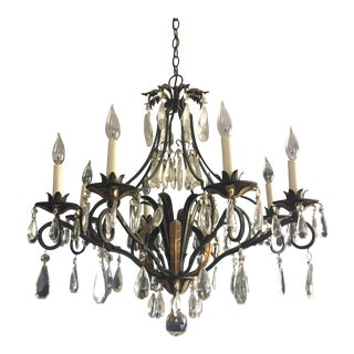 Italian Wrought Iron Chandelier