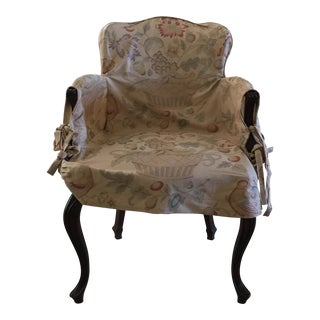 Open Arm Slipcovered Side Chair