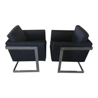 Milo Baughman Cube Chairs - a Pair
