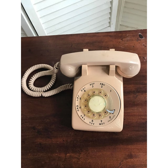 Image of Vintage Mid-Century Modern Rotary Dial Desk Phone
