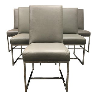 Restoration Hardware Grant Leather Chairs - Set of 6