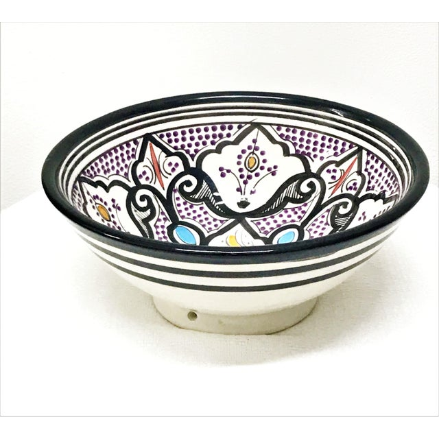 Moroccan Hand-Painted Small Multicolored Bowl - Image 3 of 3