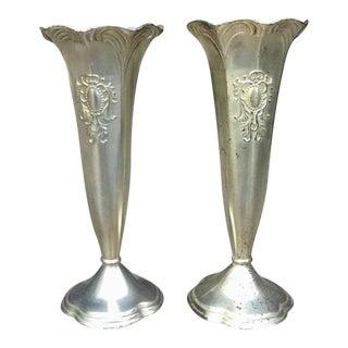 KI Silver-Plate Bud Vases - a Pair