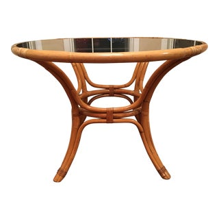 Vintage Rattan Round Dining Table