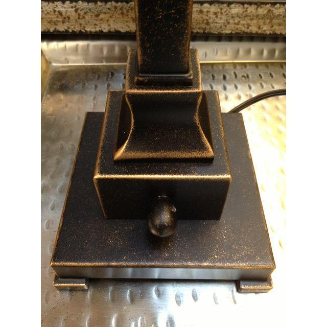 Square Crackle Glass Buffet Lamp - Image 6 of 6