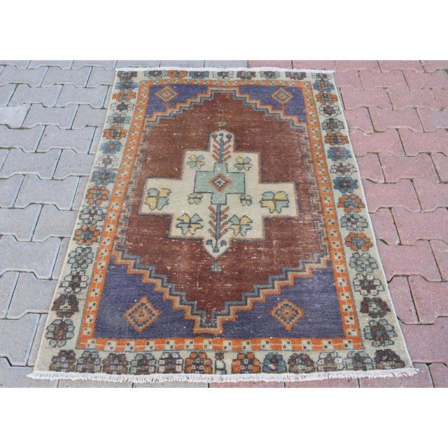 Turkish Handmade Vintage Pastel Pile Rug - 3′1″ × 4′9″ - Image 2 of 6