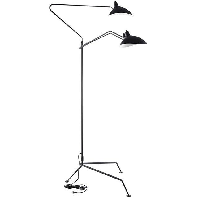 Serge Mouille Replica Black Steel Floor Lamp - Image 3 of 5