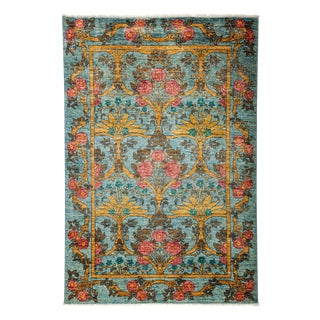 "Arts & Crafts, Hand Knotted Area Rug - 4'2"" X 6'"