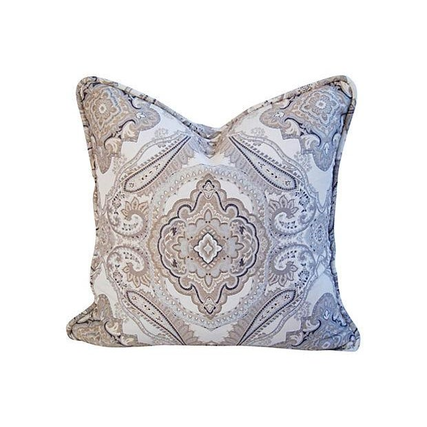 Rodin Pewter Medallion Pillows - A Pair - Image 5 of 6