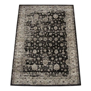 Distressed Vintage Brown Rug - 4' x 6'