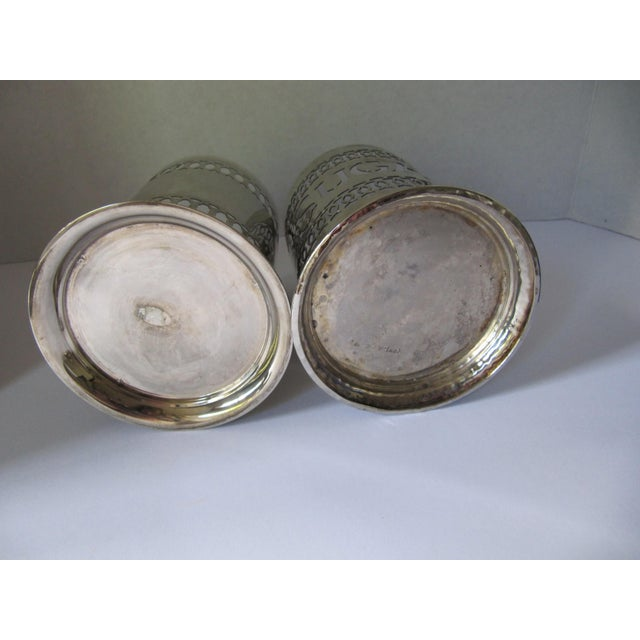 Vintage Silver-Plate Canisters- A Pair - Image 8 of 9