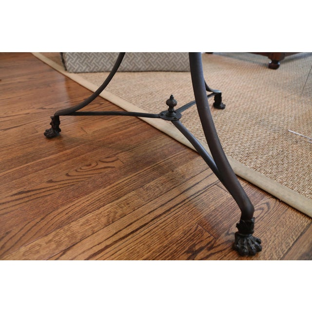 Restoration Hardware Lion's Foot Brasserie Table - Image 4 of 4