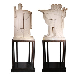 Art Deco Movie Prop Sculptures - Pair