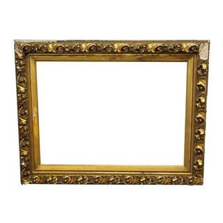 Ornate Gold Plaster Picture Frame