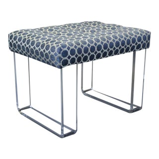 Infinity Style Blue Lucite Bench