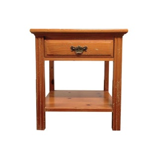 Vintage Henredon Carved Oak Side Table