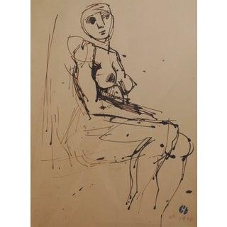 1946 Figurative Drawing by Richard Hackett
