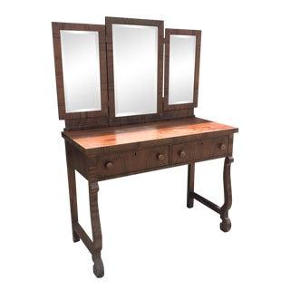 Antique American Empire Mahogany Ladies Vanity Desk
