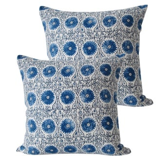 Cobalt Blue Accent Pillows - A Pair