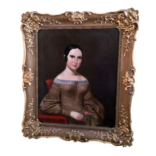 Original Antique Portrait of Woman