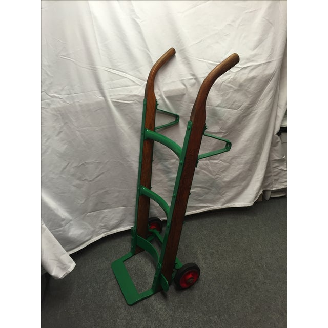 Country Kitchen Fairbanks: Antique Fairbanks Oak & Green Metal Hand Truck