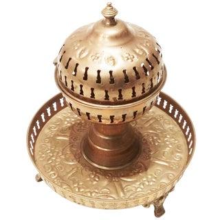 Moroccan Brass Steaming Incense Burner