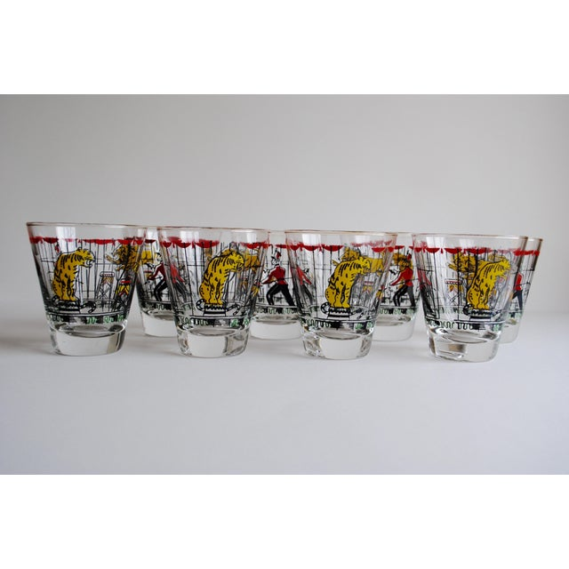 Vintage Circus Theme Whiskey Glasses - Set of 8 - Image 6 of 11