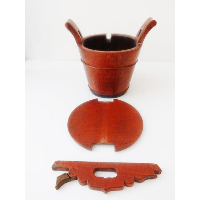 Vintage Chinese Food Carrier Rice Basket - Image 5 of 6