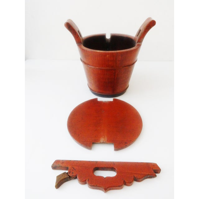 Image of Vintage Chinese Food Carrier Rice Basket