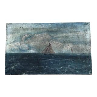 1926 Original Oil Seascape Painting Signed K. Volodarevski