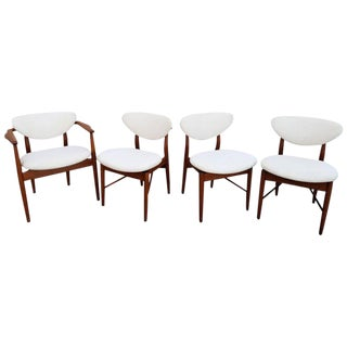 Finn Juhl Attributed Dining Chairs - Set of 4