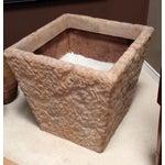 Image of Huge Renaissance Hewn Cast Stone Planter - Two