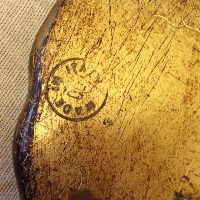 Florentine Gold & Cream Wooden Tray - Image 4 of 4