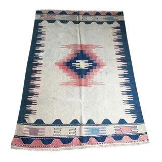 Vintage Anatolian Kilim Rug - 3′10″ × 5′6″
