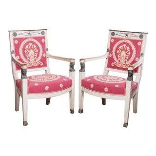 Early 19th Century French Consulate Fauteuils - Pair