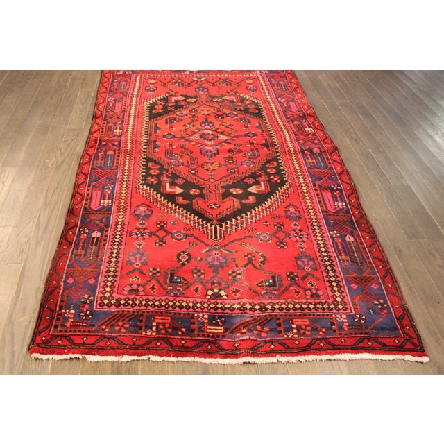 "Vintage Red Persian Rug - 4' x 6'7"" - Image 2 of 4"