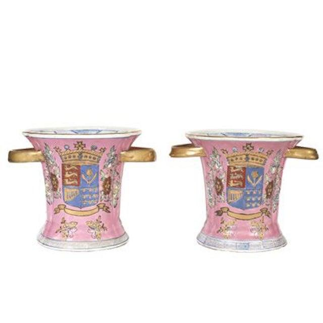 Image of Vintage Pink Porcelain Urns
