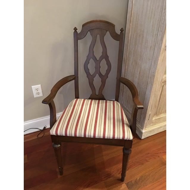 Lenoir Broyhill Vintage Pecan Chairs - Set of 6 - Image 3 of 11