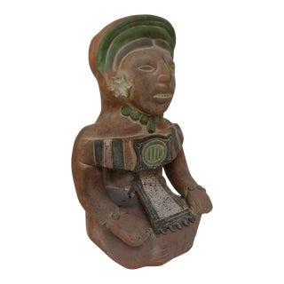Ceramic Mayan Sun God