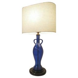 Custom Blue Bottle Table Lamp