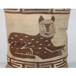Image of Folky Cat Indian Weaving Pillow