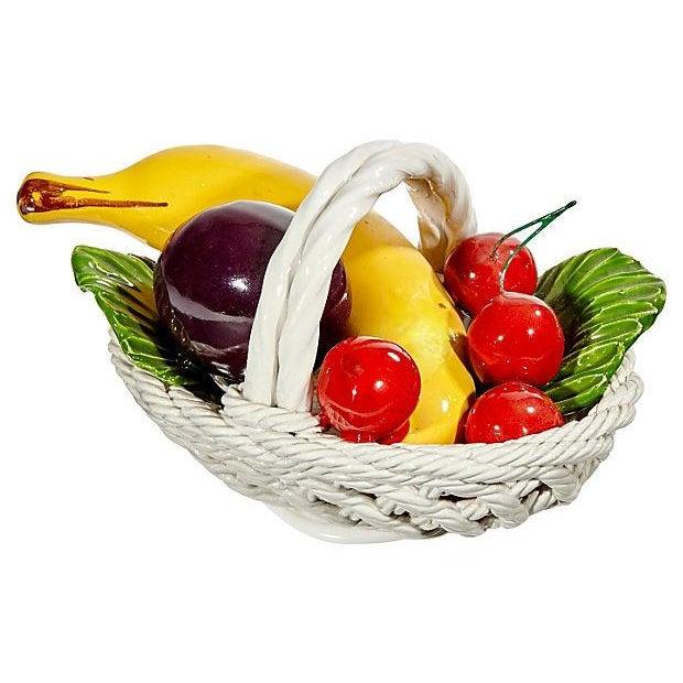 1970s Fruit Ceramic Basket - Image 2 of 4