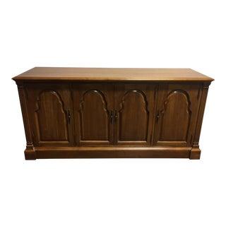 "Davis Cabinet Co Antique Walnut Solid Wood 65"" Buffet Server Sideboard Console"