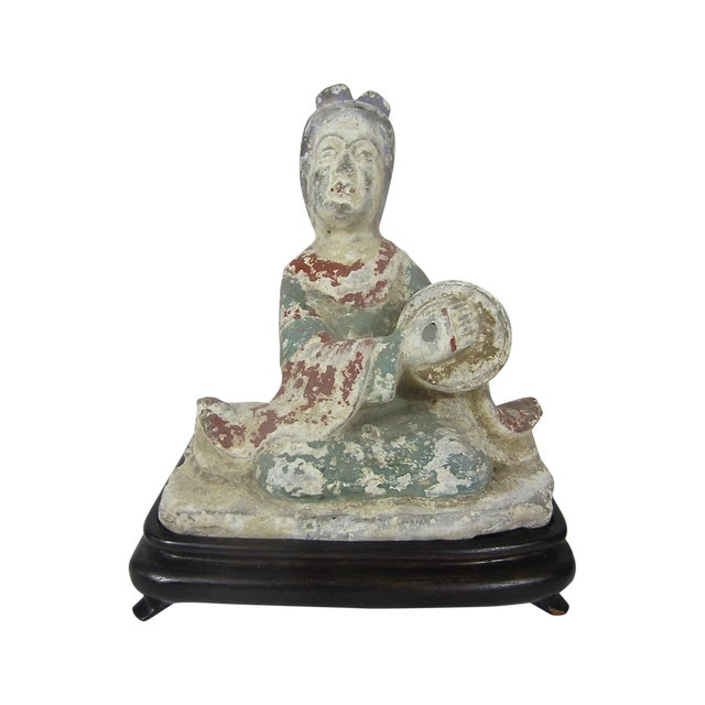 Chinese Tang Dynasty Pottery Figure of a Musician - Image 1 of 6