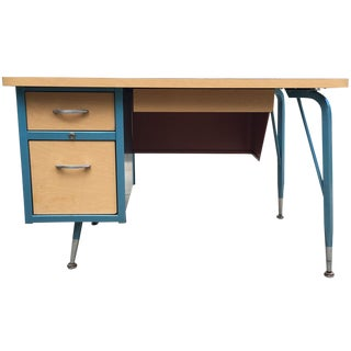 Mid-Century Two-Toned Desk