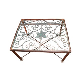 Custom Made Iron and Glass Coffee Table