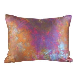 Orange & Purple Lumbar Pillow Cover
